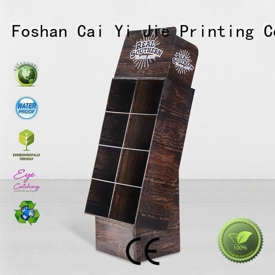 cardboard greeting card display stand stainless retail cardboard stand printing CAI YI JIE Brand