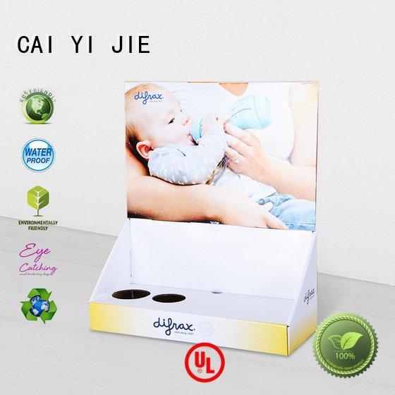printed counter chain custom cardboard counter displays CAI YI JIE