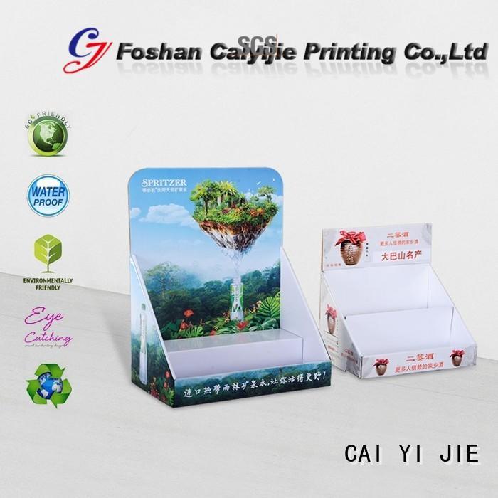 custom cardboard counter displays product marketing sale CAI YI JIE Brand cardboard display boxes