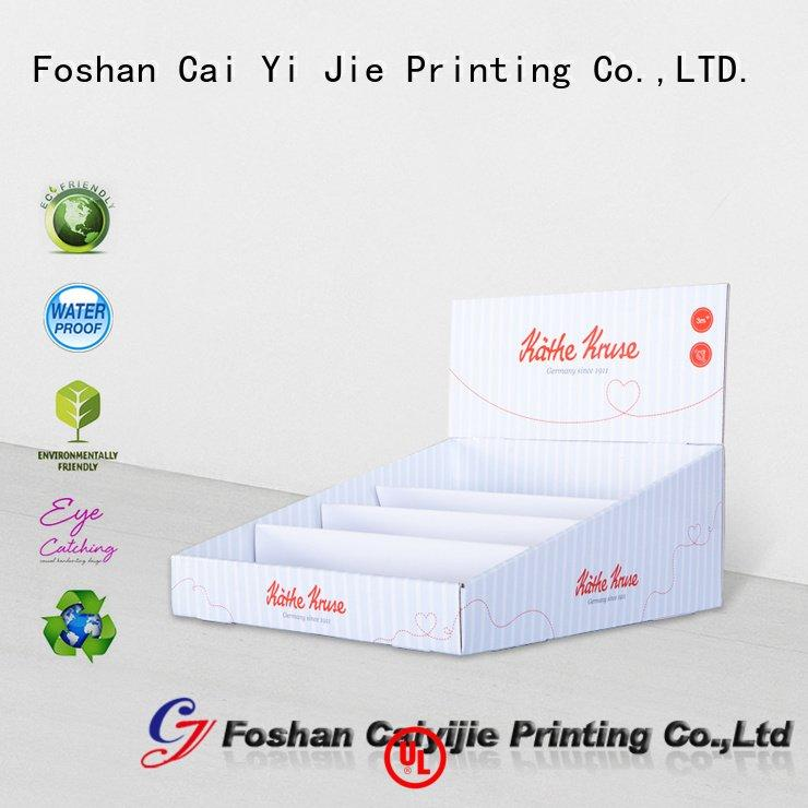 custom cardboard counter displays stores display cardboard display boxes CAI YI JIE Brand