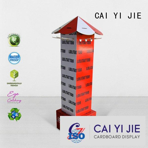 CAI YI JIE sale display step counter hook display stand stair
