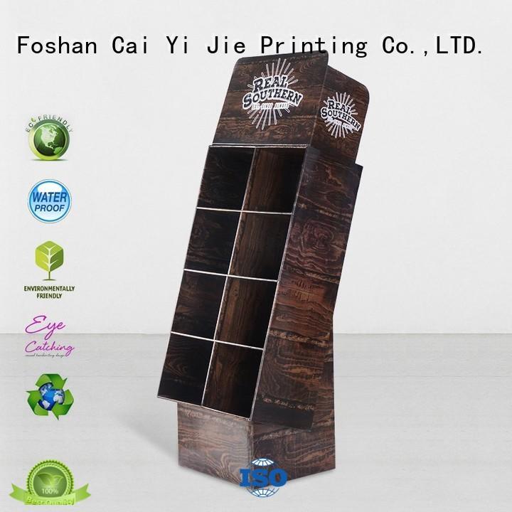 Quality CAI YI JIE Brand display printed cardboard stand