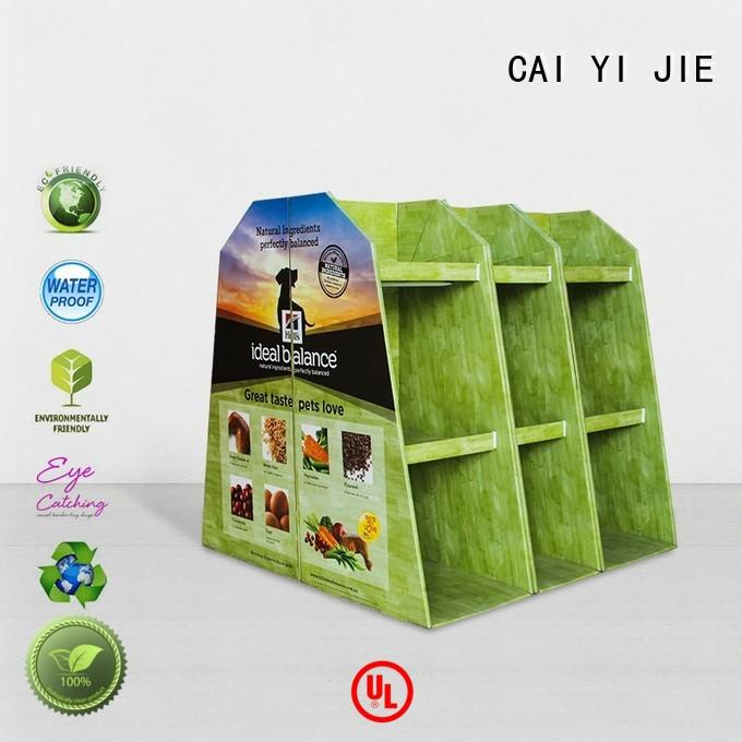 CAI YI JIE easy installation free standing display for stores