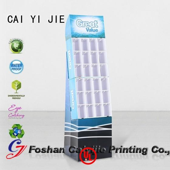step Custom supermarket hook display stand stands CAI YI JIE