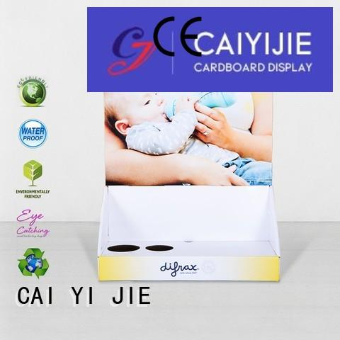 CAI YI JIE cardboard pos display boxes stands boxes for stores