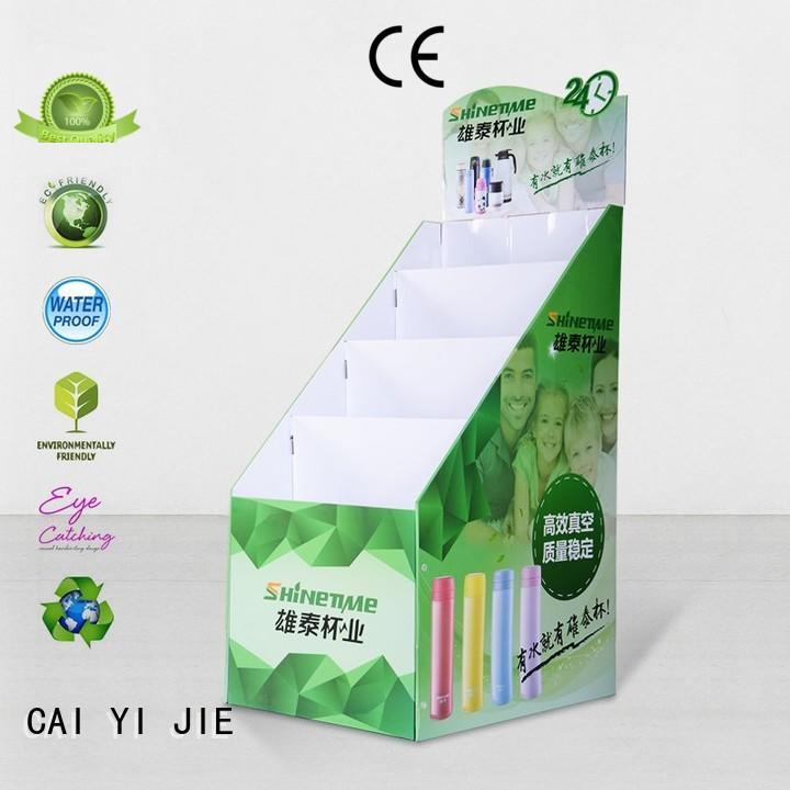 Quality CAI YI JIE Brand large sale cardboard stand
