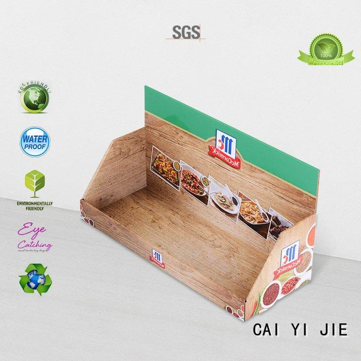 stands sale supermarkets printed CAI YI JIE cardboard display boxes