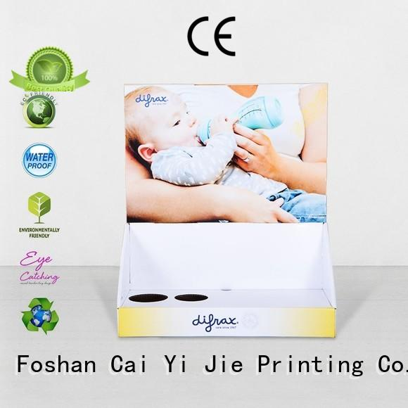 CAI YI JIE Brand marketing retail stands custom custom cardboard counter displays