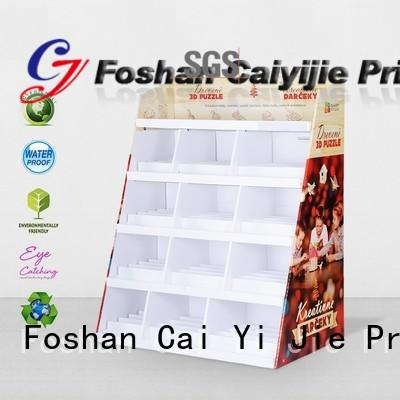 CAI YI JIE cardboard poster stand color fordrink