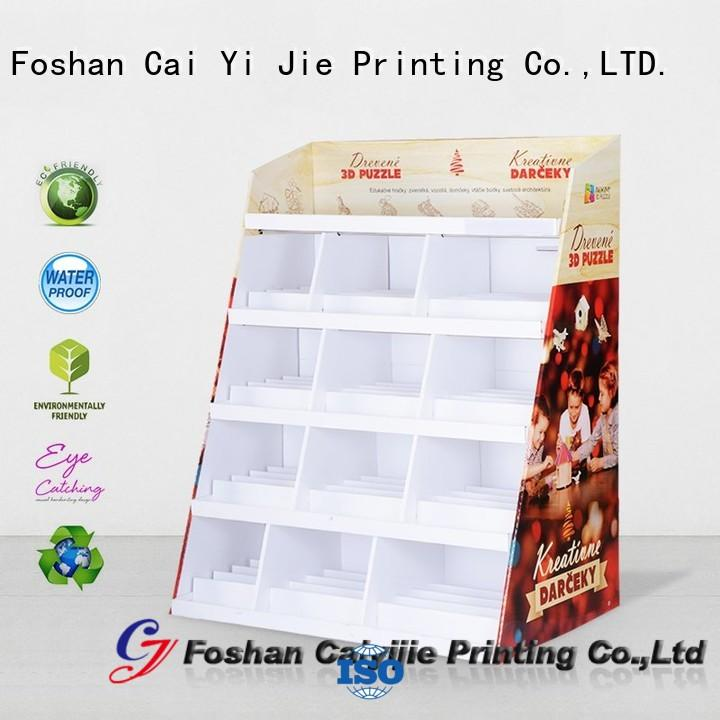 clip corrugated floor displays modeling for promotion CAI YI JIE