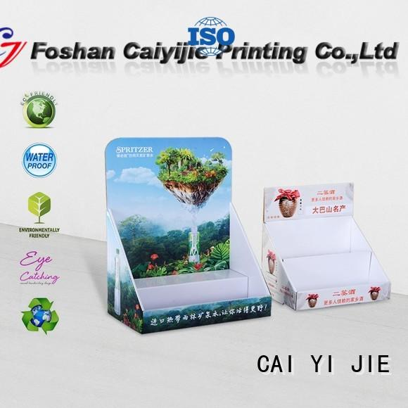 CAI YI JIE grocery cardboard counter display boxes factory price for marketing