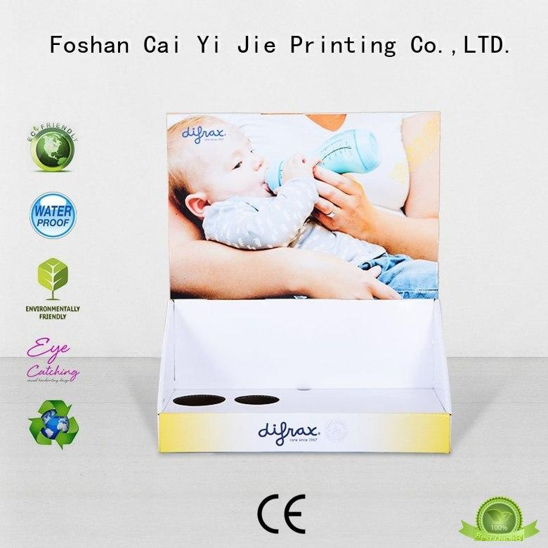 universal cardboard book display boxes sale for products CAI YI JIE