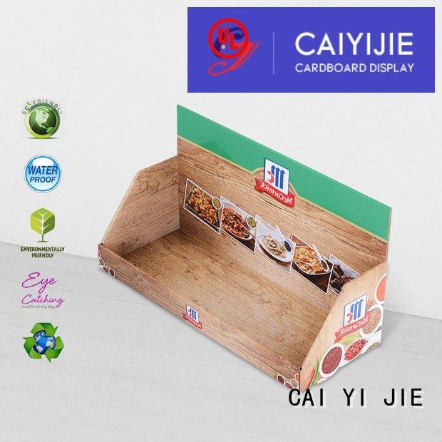 Hot custom cardboard counter displays product display printed CAI YI JIE Brand
