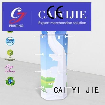 sidekick display rack stand plastic power wing display CAI YI JIE Brand