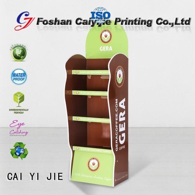 printed cardboard floor display sale