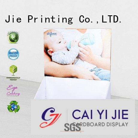 Hot custom cardboard counter displays sale cardboard display boxes printed CAI YI JIE