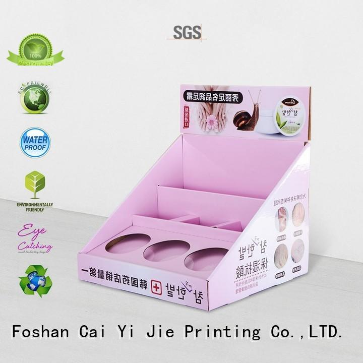 grocery custom cardboard display boxes factory price for units chain
