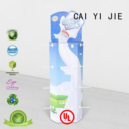 power power wing floor display hooks stand for marketing CAI YI JIE