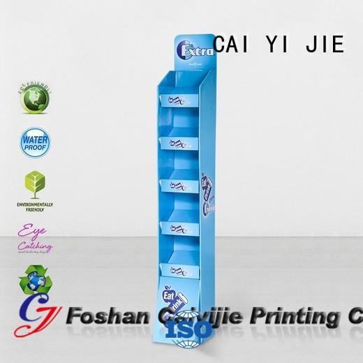printing uv sale space cardboard stand CAI YI JIE