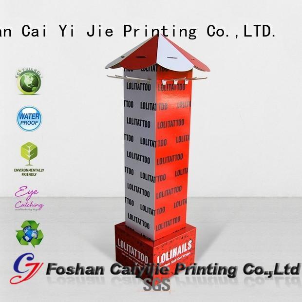 CAI YI JIE hook display stand cardboard display for supermarket