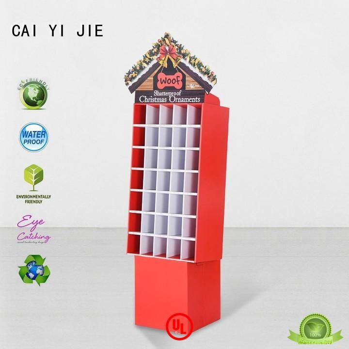 CAI YI JIE super cardboard retail display items for promotion