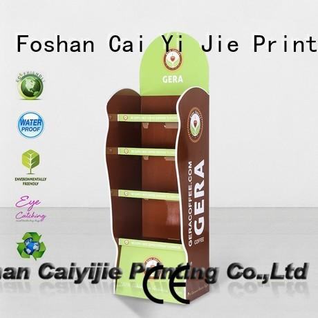 CAI YI JIE Brand promotional cardboard greeting card display stand stiand supplier