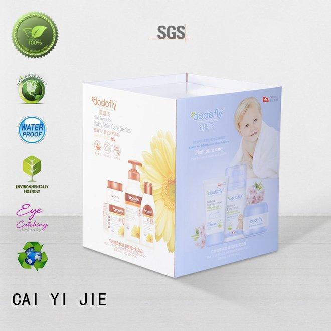cardboard dump bins for retail merchandising standing CAI YI JIE Brand
