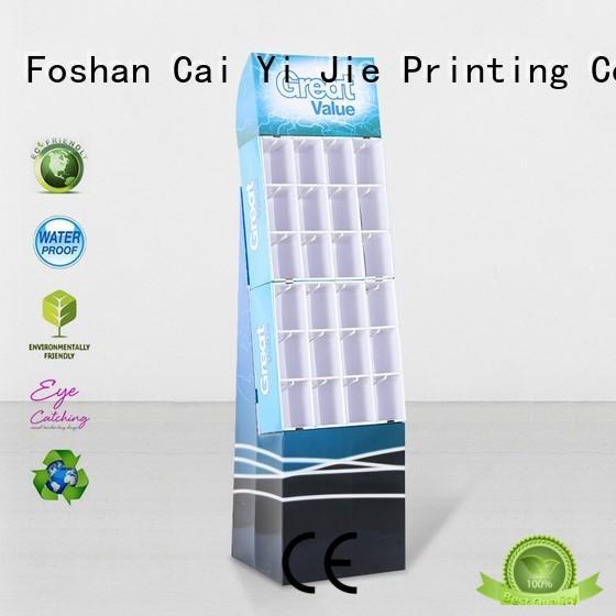 cardboard business card display holders wholesale for perfume CAI YI JIE