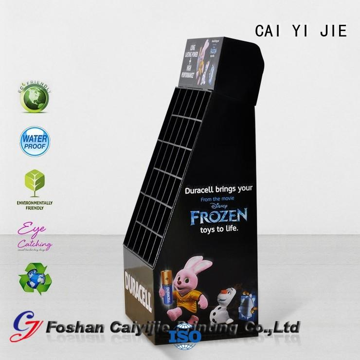 cardboard greeting card display stand floor tube cardboard stand chain company