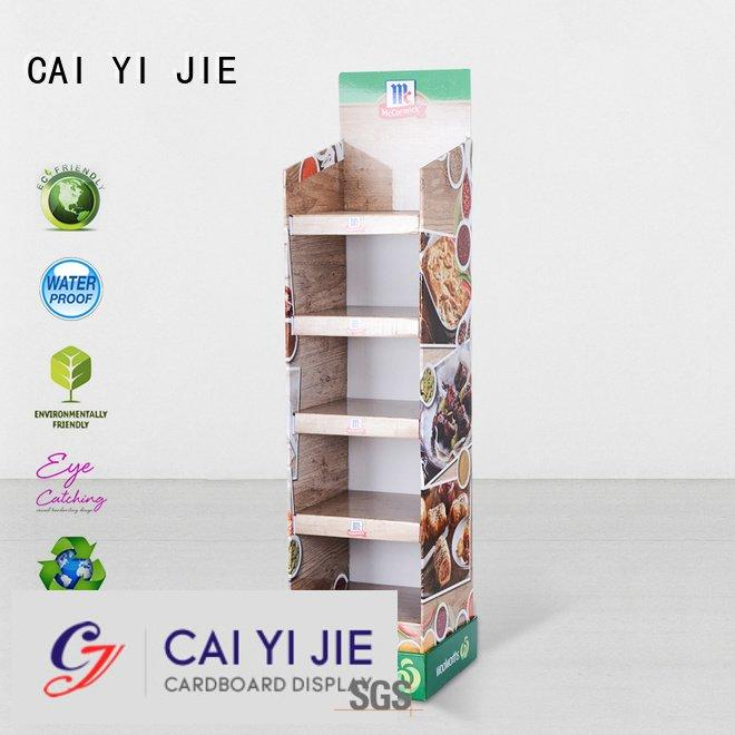 cardboard greeting card display stand retail cardboard stand CAI YI JIE