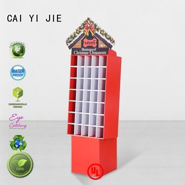 CAI YI JIE heavy cardboard floor display layers for foods