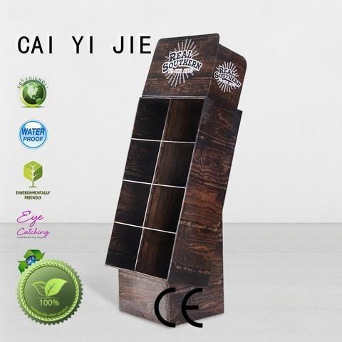 CAI YI JIE special custom cardboard displays stair for paper shelf