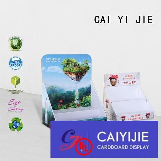 CAI YI JIE Brand display chain custom cardboard counter displays units