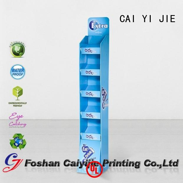 CAI YI JIE corrugated cardboard display manufacturers layers for milk