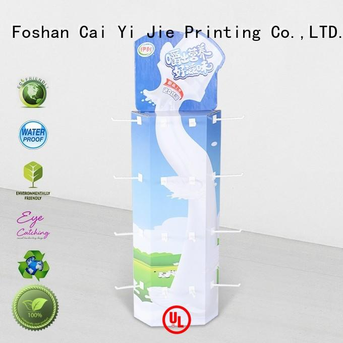 CAI YI JIE high-end power wing display plastic for stores