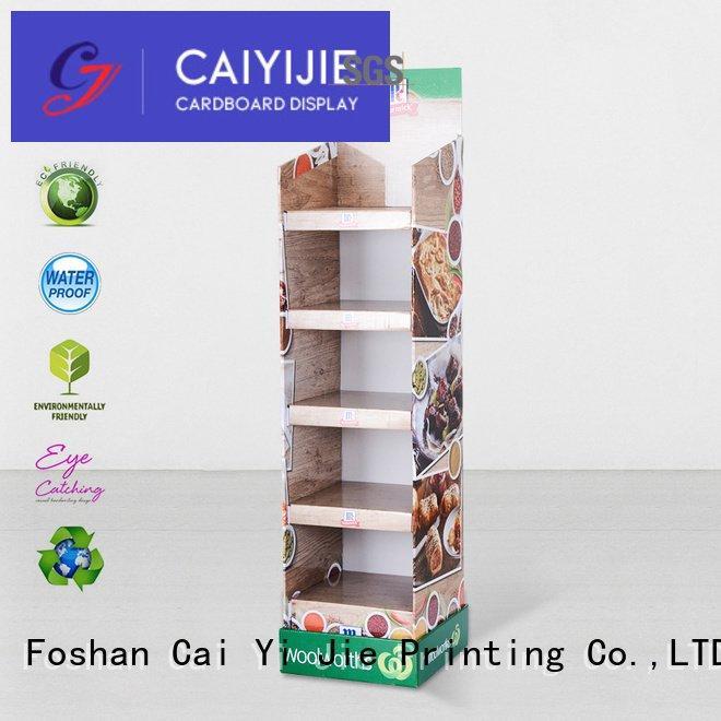 cardboard greeting card display stand clip cardboard stand printing CAI YI JIE