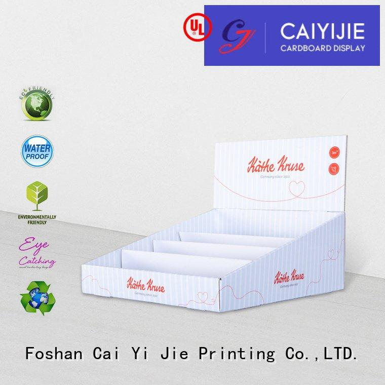 promotional printed CAI YI JIE cardboard display boxes
