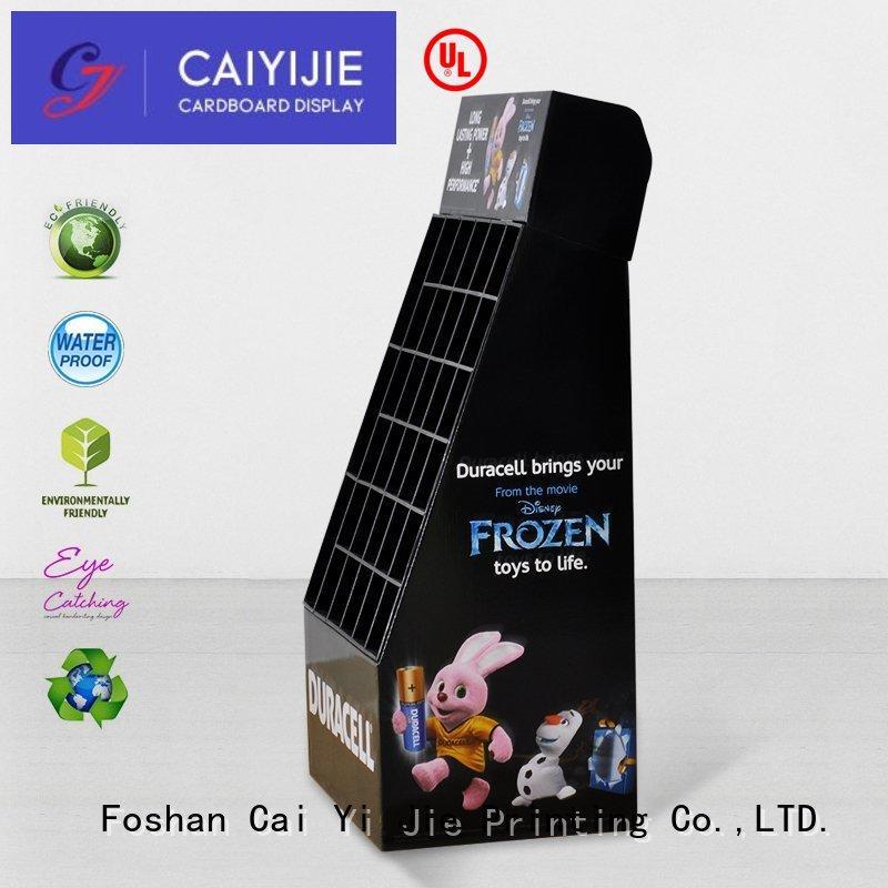clip cardboard box stand floor for cosmetics CAI YI JIE