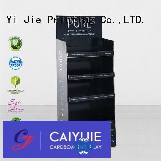 cardboard greeting card display stand fashion chain cardboard stand CAI YI JIE Brand