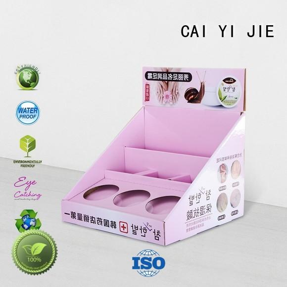 CAI YI JIE promotional cardboard countertop displays stands boxes for marketing