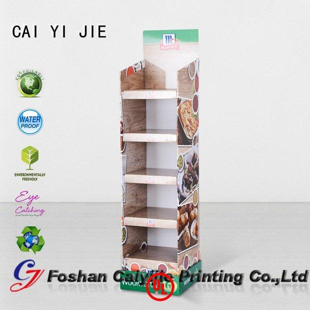 cardboard greeting card display stand sale chain uv tube CAI YI JIE