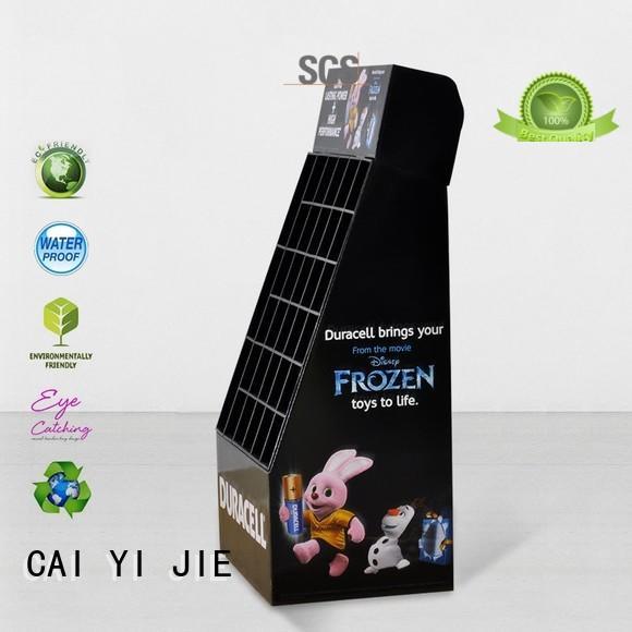 Hot cardboard cardboard greeting card display stand retai CAI YI JIE Brand