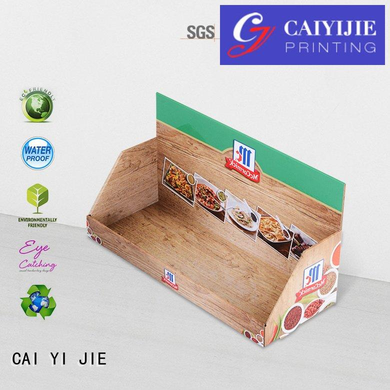 marketing sale displays cardboard CAI YI JIE custom cardboard counter displays