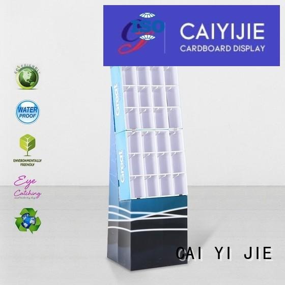 CAI YI JIE mobile cardboard business card display holders wholesale for perfume