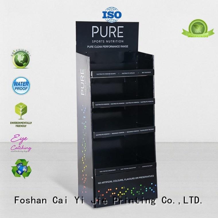 cardboard greeting card display stand chain stairglossy Warranty CAI YI JIE