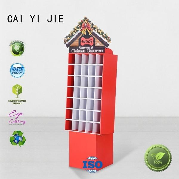 product retail step products cardboard greeting card display stand CAI YI JIE Brand