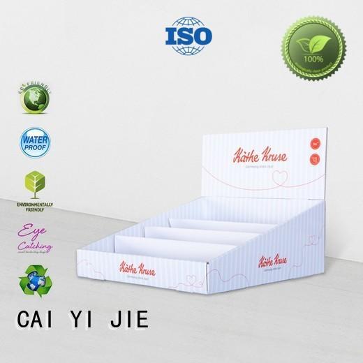 supermarkets countertop retail cardboard display boxes CAI YI JIE Brand