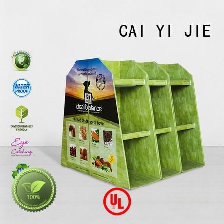 product retail corrugated CAI YI JIE Brand pallet display supplier