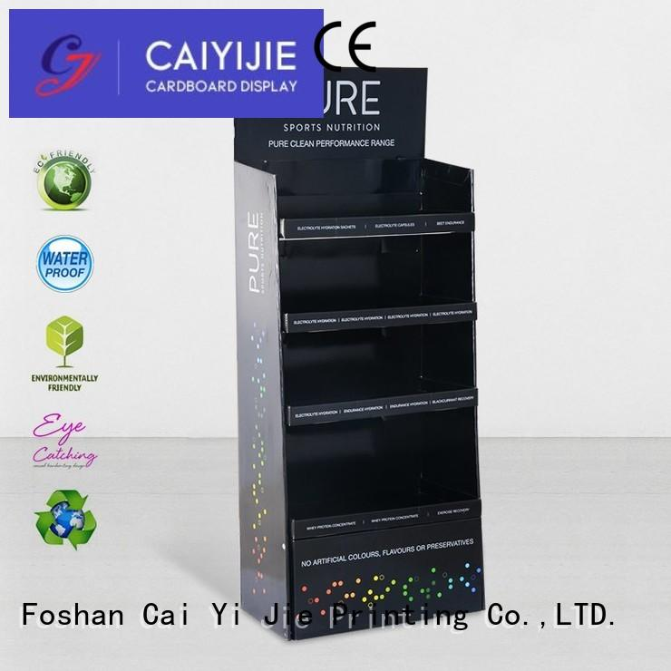 CAI YI JIE super cardboard pos display stands products for cabinet