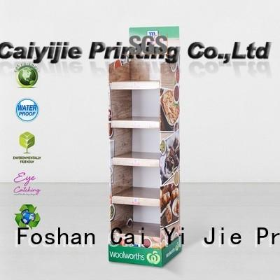 CAI YI JIE large cardboard pop up displays tiers for supermarket